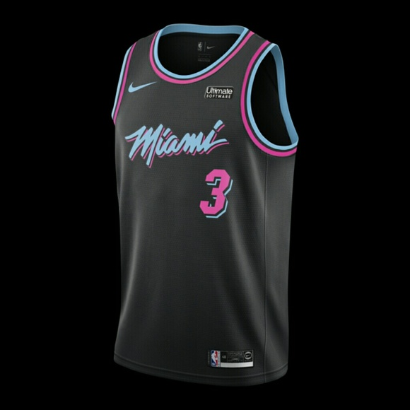 Dwyane Wade Nike Miami Heat City Edition Jersey 30aeb420d